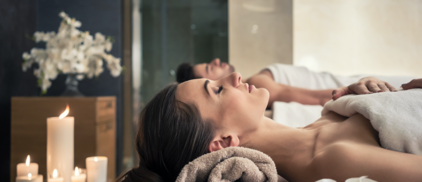 Women laying on massage table at the TribeHouse Purify Spa